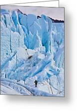 Matanuska Glacier Alaska Hiking Greeting Card by Sam Amato
