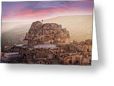 Matera Sassi Greeting Card by Michael Avory