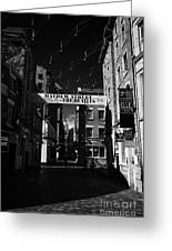 Mathew Street In Liverpool City Centre Birthplace Of The Beatles Merseyside England Uk Greeting Card by Joe Fox