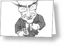Matt Ridley, Caricature Greeting Card by Gary Brown