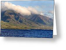 Maui Pano Greeting Card by Scott Pellegrin