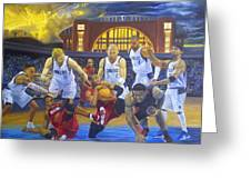 Mavericks Defeat The King And His Court Greeting Card by Luis Antonio Vargas
