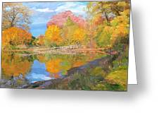 Mayslake At Fall Greeting Card by Judith Barath