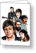 Mccartney - Heart Of The Band  Greeting Card by Jonathan W Brown