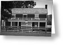 Mclean House Bw Appomattox Virgnia Greeting Card by Teresa Mucha