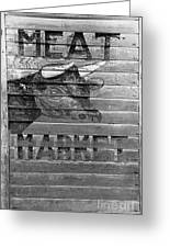 Meat Market, 1938 Greeting Card by Granger