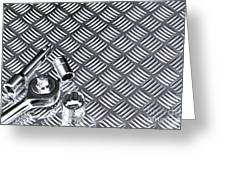 Mechanical Socket Background Greeting Card by Richard Thomas