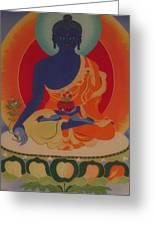 Medicine Buddha Greeting Card by Elisabeth Van der Horst