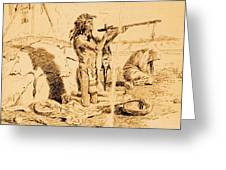 Medicine Man Greeting Card by PG REPRODUCTIONS