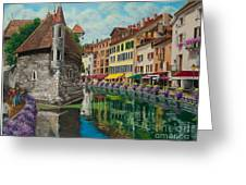 Medieval Jail In Annecy Greeting Card by Charlotte Blanchard
