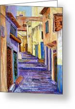 Medina In Tangier Greeting Card by Candy Mayer