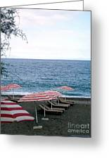 Mediterranean Beach Time  Greeting Card by Anthony Novembre