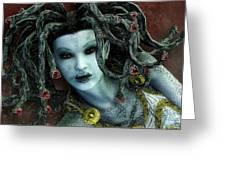 Medusa Greeting Card by Jutta Maria Pusl