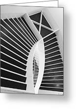 Meet Me Under The Stairs Greeting Card by Anna Villarreal Garbis