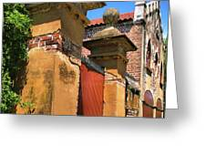 Meeting Street Gate II Greeting Card by Steven Ainsworth
