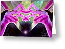 Melancholy Limbo Greeting Card by Gwyn Newcombe