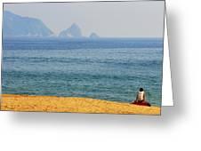 Melaque Surf Greeting Card by Skip Hunt