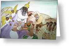 Melchizedek's  Blessing Of Abram Greeting Card by Derek Perkins