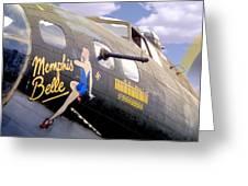 Memphis Belle Noce Art B - 17 Greeting Card by Mike McGlothlen