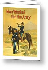 Men Wanted For The Army Greeting Card by War Is Hell Store