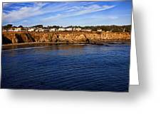 Mendocino Coastal Town Greeting Card by Garry Gay