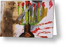 Menorah Greeting Card by Iris Gill