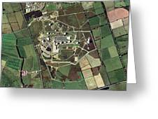 Menwith Hill Spy Base, Aerial Image Greeting Card by Getmapping Plc