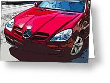 Mercedes Benz Slk Nose Study Greeting Card by Samuel Sheats