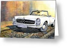 Mercedes Benz W113 280 Sl Pagoda Front Greeting Card by Yuriy  Shevchuk
