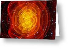 Merged Black Holes Greeting Card by Chris Henzenasa