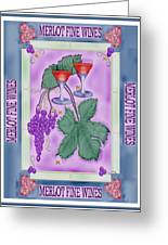 Merlot Fine Wines Orchard Box Label Greeting Card by Anne Norskog