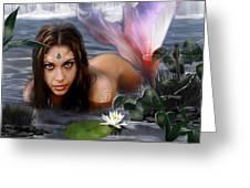 Mermaid Lagoon Greeting Card by Crispin  Delgado
