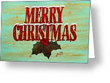 Merry Christmas Greeting Card by Georgeta  Blanaru