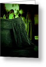 Merry Meet Green Greeting Card by Jasna Buncic
