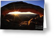 Mesa Arch Sunrise Greeting Card by Bob Christopher