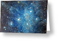 Messier 45 Pleiades Constellation Greeting Card by Alizey Khan