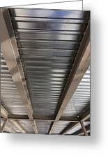 Metal Decking Over Structural Steel Greeting Card by Don Mason