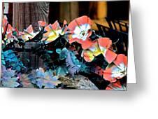 Metallic Poppies Greeting Card by Karon Melillo DeVega