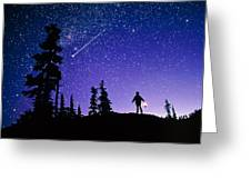 Meteor Greeting Card by David Nunuk