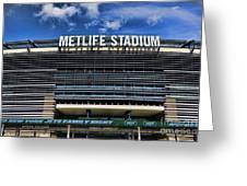 Metlife Stadium Greeting Card by Paul Ward