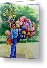 Mexico Globero II Greeting Card by Estela Robles