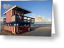 Miami Beach Watchtower Greeting Card by Melanie Viola
