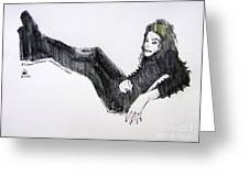 Michael Jackson - Turn It On Greeting Card by Hitomi Osanai