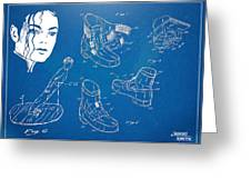 Michael Jackson Anti-gravity Shoe Patent Artwork Greeting Card by Nikki Marie Smith