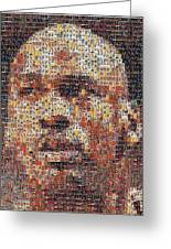 Michael Jordan Card Mosaic 3 Greeting Card by Paul Van Scott