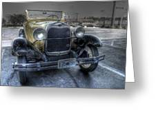 Mickey's Car Greeting Card by William Fields