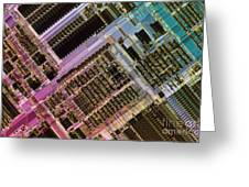 Microprocessors Greeting Card by Michael W. Davidson