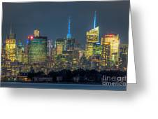 Mid-town Manhattan Twilight I Greeting Card by Clarence Holmes