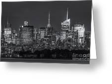 Mid-town Manhattan Twilight II Greeting Card by Clarence Holmes