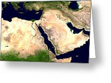 Middle East Greeting Card by Nasa